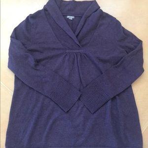 Eddie Bauer Plus Deep Purple Sweater